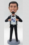 Custom bobbleheads with Mets logo on shirt