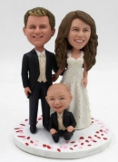 Custom wedding bobbleheads cake toppers with child