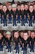 5 Personalized bobbleheads bullk order different faces