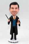 Custom bobblehead Harry Potter with wand