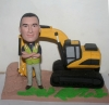 Custom bobblehead with excavator