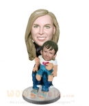 Custom Mother and child bobbleheads
