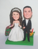 Custom garden wedding cake toppers