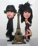 Mr & Mrs.with Eiffel Tower bobbleheads