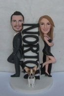 Mr & Mrs Smith wedding bobbleheads