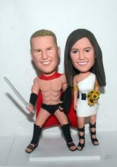 Gladiator Wedding Cake Toppers