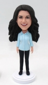 Custom bobblehead doll casual wear