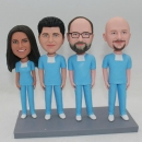 Custom surgeon bobblehead group of four