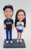 Custom couple bobbleheas with beer