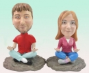 custom bobbleheads- YOGA couple