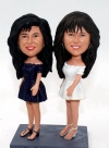 Custom bobbleheads twin sisters