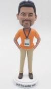 Custom bobblehead with name badge