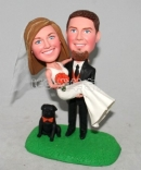 Custom wedding Bobblehead with dog