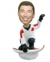 Male snowboarder custom bobbleheads