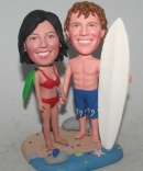 Surfboard couple Bobblehead