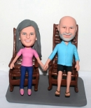 Rocking chair couple bobbleheads