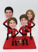 Custom super family Incredibles bobbleheads - for 4 persons