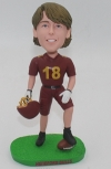 Custom Bobbleheads in burgundy football jersey