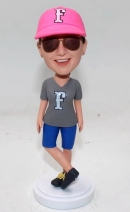 Custom bobblehead with sunglasses