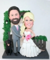 Custom wedding cake toppers garden