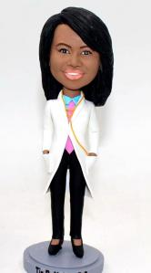 Custom female doctor bobbleheads - graduation gift