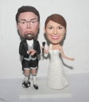 Personality football wedding bobbleheads