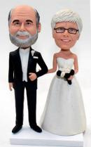 Custom renewal wedding vows cake topper