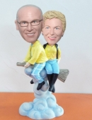 Flying on broom bobbleheads