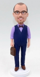 Custom bobble head doll with suitcase