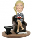 Reading girl custom bobbleheads