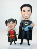 Custom Batman and Robin bobbleheads