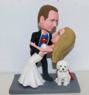 Custom superman wedding bobblehead dancing