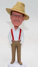 Custom bobblehead with suspender