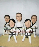 Taekwondo bobbleheads for 5 persons