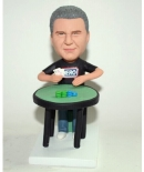 Poker player custom bobbleheads
