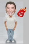 Custom bobblehead casual guy