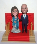 Indian custom wedding bobble heads with backgroud