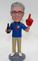Custom No.1 fan bobblehead with beer