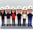 Custom Team bobbleheads -a group of six