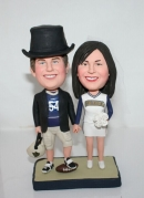 Custom rugby wedding cake toppers