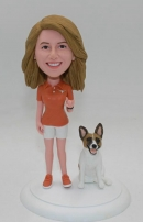 Custom bobblehead with dog