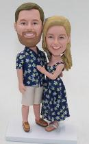 Custom destination wedding bobblehead dolls