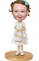 Flower girl bobblehead 1118