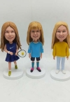 3 custom bobbleheads wholesale different faces dolls