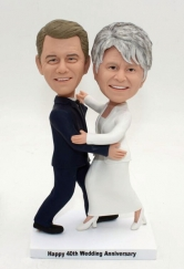 Custom 40 wedding anniversary bobbleheads gift