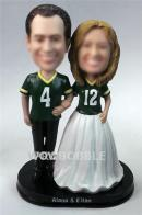 Sports fans weddding bobbleheads
