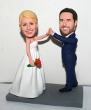 Custom high five wedding cake toppers