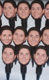 10 custom bobbleheads bottle stoppers bullk order same face