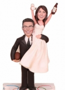 Personal wedding bobbleheads