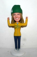 Custom bobbleheads Cheering girl